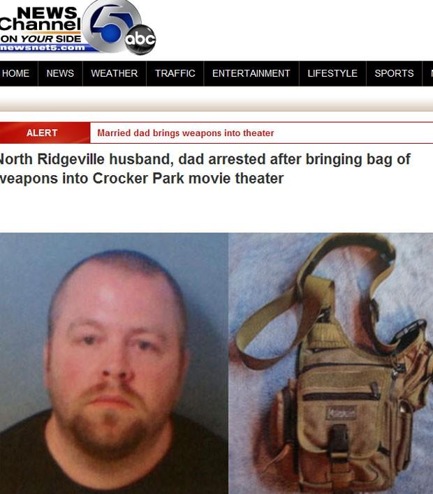 Scott A. Smith, 37, que teria entrado em cinema dos EUA com armas na mala (Foto: Reprodução)