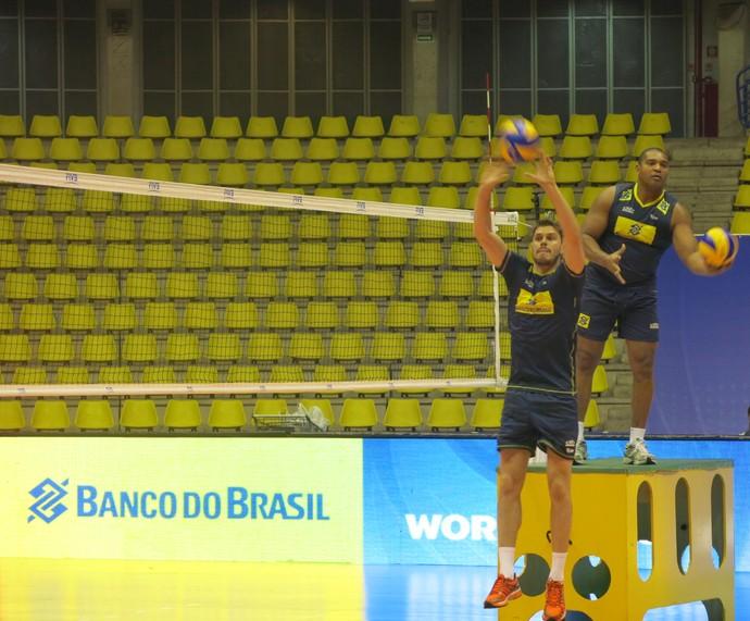 Brasil x Austrália Bruninho liga mundial de vôlei (Foto: Danielle Rocha)