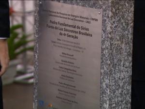 Pedra fundamental para construção do projeto Sirius é lançada em Campinas (Foto: Reprodução/ EPTV)