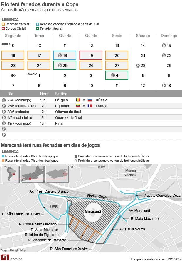 Mapa arte interdições Maracanã (Foto: Editoria de Arte / G1)