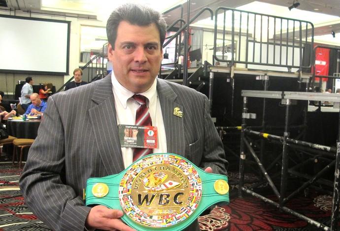 Mauricio Suleiman cinturão campeão boxe (Foto: Gabriel Fricke)
