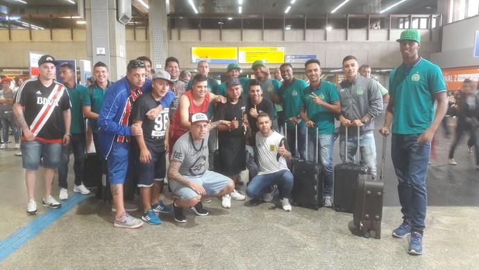 chapecoense venezuela embarque voo libertadores (Foto: Divulgação / Chapecoense)