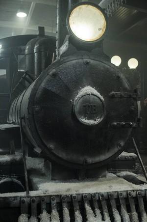 O trem faz parte do cenário da novela que a TV Guanabara está exibindo na trama (Foto: Estevam Avellar/TV)