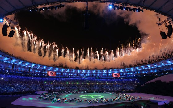 Cerimonia de abertura das Olimpíadas Rio 2016 (Foto: Issei Kato / Reuters)