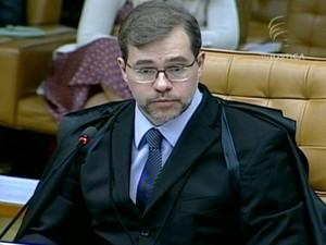 Ministro Dias Toffoli (Foto: Reprodução Globo News)