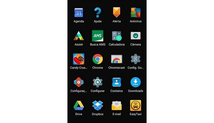 Menu principal do Android Lollipop sem fundo branco (Foto: Reprodução/Raquel Freire)