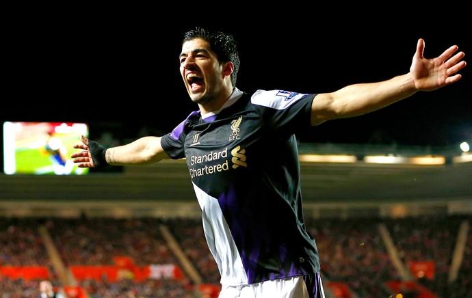 Luis Suarez  comemoração do Liverpool contra o Southampton (Foto: Reuters)