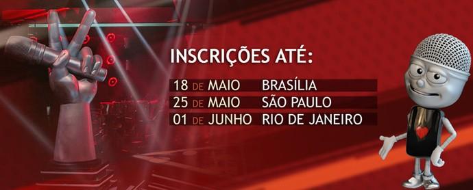 inscrições Brasília (Foto: Gshow)