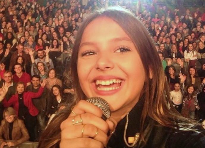 Laura com o público da Fenasoja, em Santa Rosa (Foto: Arquivo Pessoal)