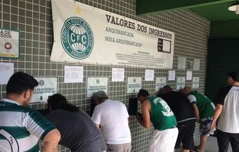 Torcida do Coritiba esgota em menos de um dia ingressos para o Atletiba