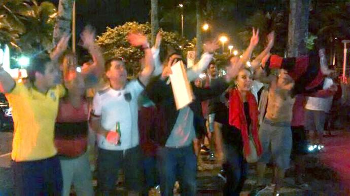 Brasileiro Provocam Chegada Argentina Hotel  (Foto: Cassius Leitão)