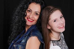 Catarina Estralioto e Patrícia The Voice Kids (Foto: Arquivo pessoal)