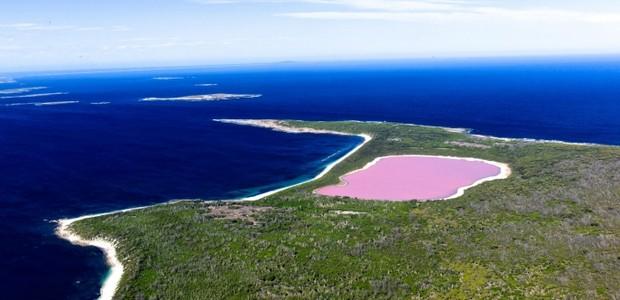 8-lugares-coloridos-lake-hillier-lago-rosa-australia (Foto: Thinkstock)