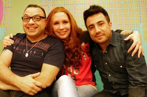 Tancredo, Marina e Zé Nelson da banda Georgia (Foto: Divulgação/RPC)