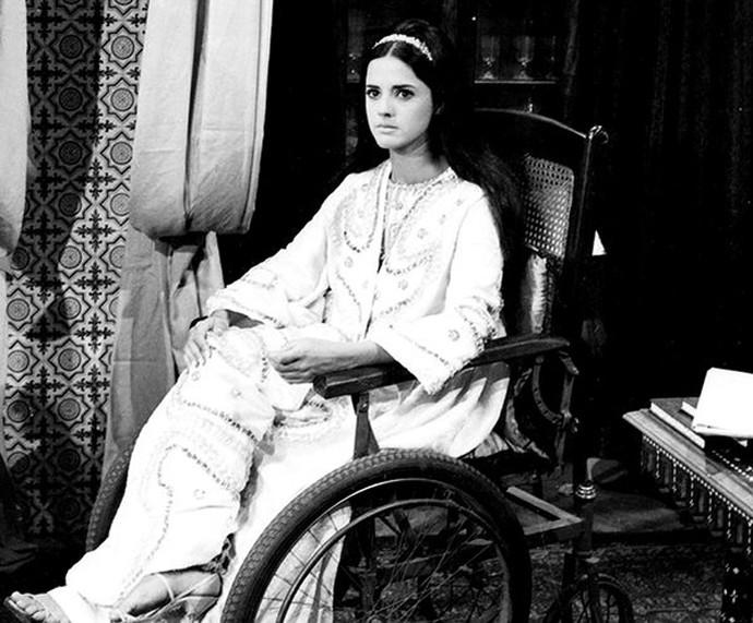 O primeiro papel de Marieta Severo na TV foi com Éden de Bassora, em O Sheik de Agadir (Foto: CEDOC / TV Globo)