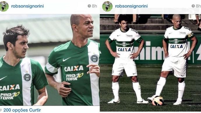 Robinho Alex Julio César Coritiba agradecimento (Foto: Reprodução / Instagram)
