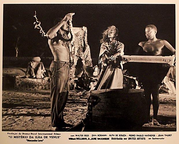 Cartaz do filme Macumba love – O mistério da ilha de vênus, com a atriz Ruth de Souza (Foto: Reprodução)