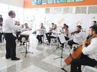 Orquestra faz concerto em hospital em homenagem a Carlos Gomes