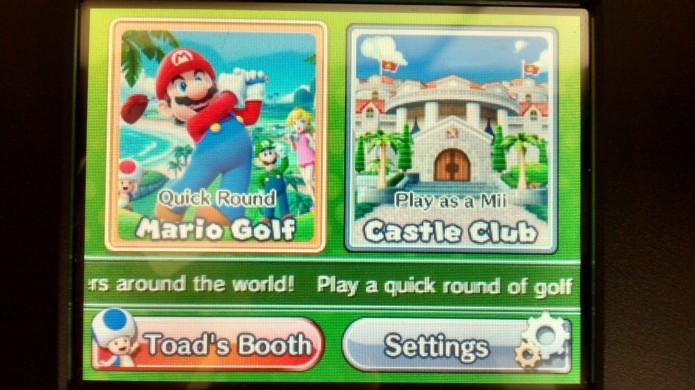 Selecione Quick Round Mario Golf (Foto: Paulo Vasconcellos)