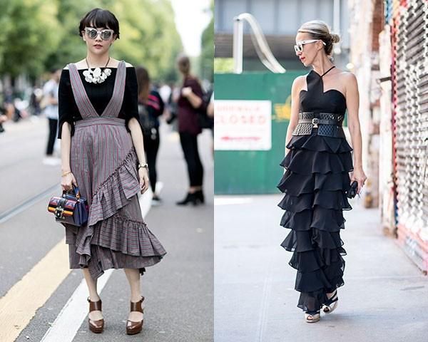 A tendência marcou vestidos e macacões (Foto: Imaxtree)