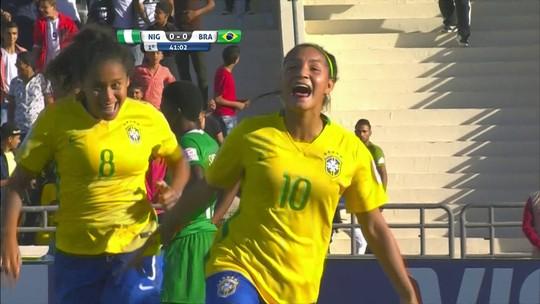 Com belo gol, Brasil vence a Nigéria em estreia no Mundial feminino sub-17