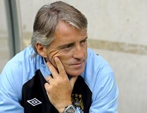 Roberto Mancini no treino do Manchester City (Foto: EFE)