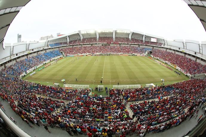 Arena das Dunas Flamengo x Fluminense (Foto: Alexandre Lago/GloboEsporte.com)