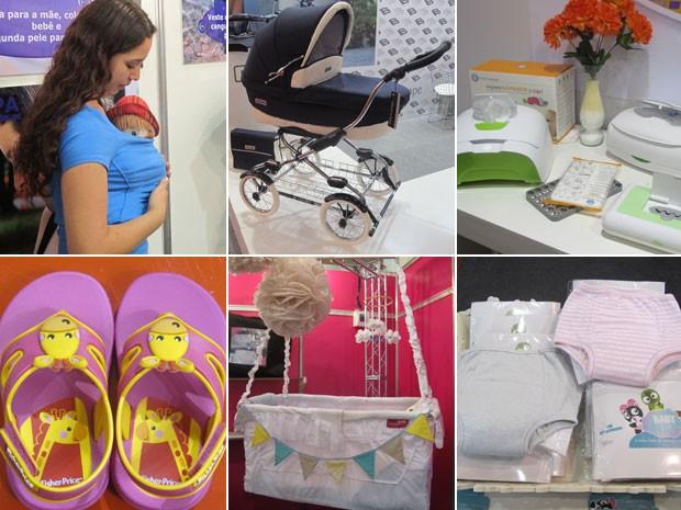 Feira para bebês lança de camiseta-canguru a 'chinelo educativo' (Foto: Fabíola Glenia/G1)