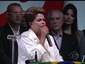 BDBR - Dilma Rousseff reeleita (Foto: Rede Globo)