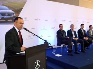 Mercedes-Benz em Iracemápolis irá gerar 4.000 empregos, prevê diretor (Foto: Thomaz Fernandes/G1)