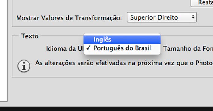 Como alterar o idioma do Photoshop CC 2014 (Foto: Reprodução/André Sugai)