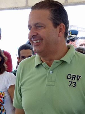 Eduardo Campos participou de lançamento de projeto de assebilidade. (Foto: Katherine Coutinho / G1)