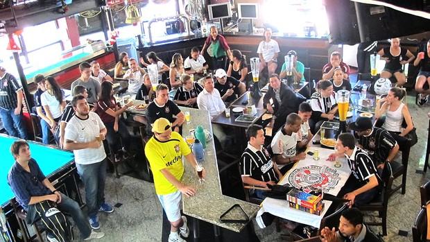 torcida Corinthians Parque São Jorge jogo Mundial (Foto: Daniel Romeu / Globoesporte.com)