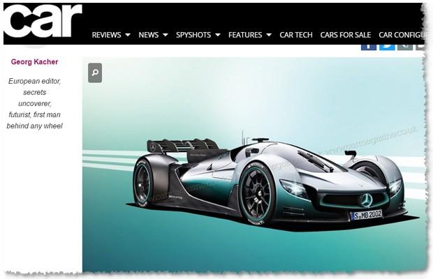 Projeção do hypercarro Project One da AMG feita pela Car Magazine (Foto: Reprodução/Car Magazine)
