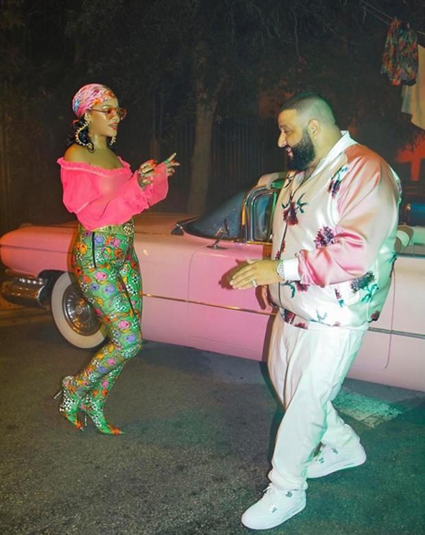 Rihanna e DJ Khaled (Foto: Reprodução / Instagram)
