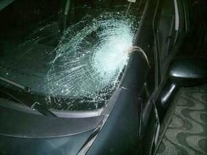 Suspeito atropelou e fugiu sem prestar socorro (Foto: Polícia Militar/Divulgação)