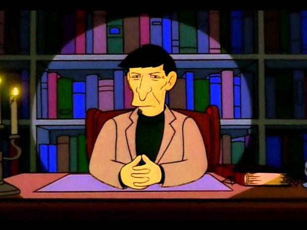 O ator Leonard Nimoy participa de 'Os Simpsons' (Foto: Divulgação)