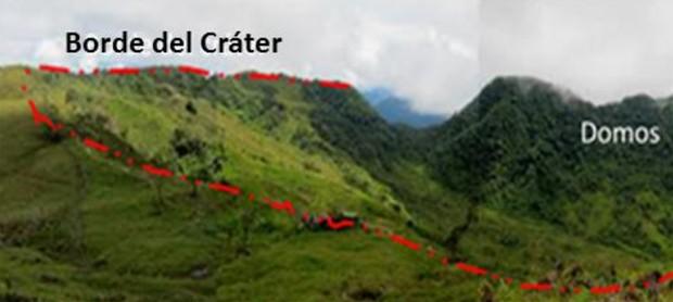 Imagem divulgada pelo Seriço Geológico colombiano mostra região onde novo vulcão foi descoberto (Foto: Servicio Geológico Colombiano/Divulgação)