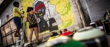 Grafite se impõe pela arte e pelo movimento de resistência (Jonathan Lins/G1)
