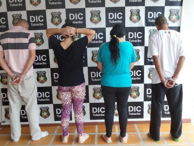 Quatro pessoas estão presas, suspeitas de matar Maicon da Rocha (Foto: Polícia Civil/Divulgação)