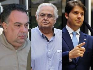 André Vargas, Pedro Corrêa e Luiz Argôlo foram denunciados pelo MPF (Foto: Cassiano Rosário/Futura Press/Estadão Conteúdo, Geraldo Bubniak/AGB/Estadão Conteúdo e Gustavo Lima / Câmara dos Deputados)