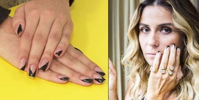 Unha decorada de Giovanna Antonelli na novela 'A Regra do Jogo' já é tendência  (Foto: Reprodução / TV Diário)