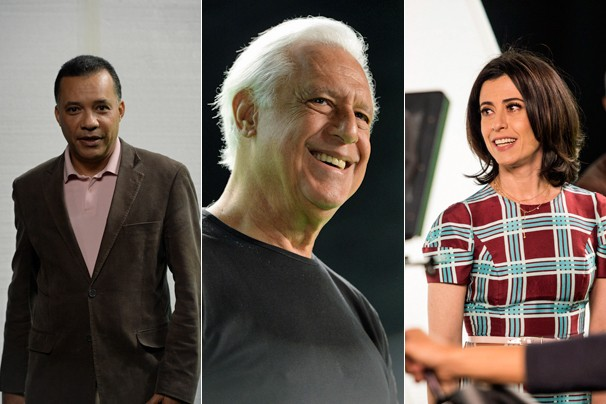 Registros de Heraldo Pereira, Antonio Fagundes e Fernanda Torres nos filmes que você em breve (Foto: Globo)
