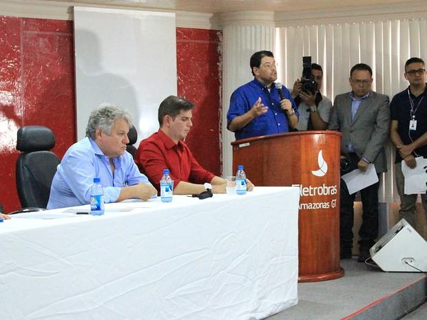 Ministro Eduardo Braga afirma que proposta é investir na geração híbrida de energia em busca de maior eficiência e redução das tarifas para os consumidores  (Foto: Ive Rylo / G1 AM)