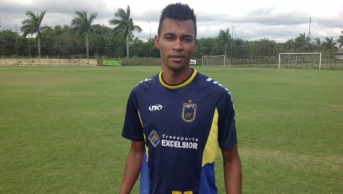 Laionel, de 27 anos, veio do Guarani-SP (Foto: Vinicius Lima/GloboEsporte.com)