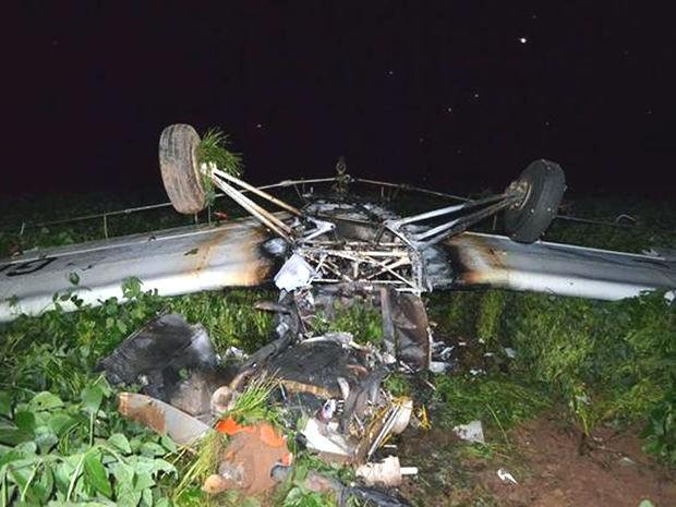 Avião caiu em região de lavoura em Sorriso (Foto: MT Notícias)