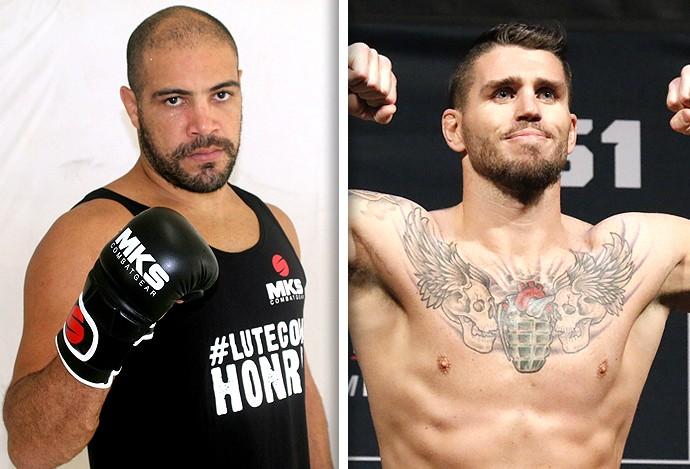 Montagem Thales Leites e Chris Camozzi MMA (Foto: Editoria de Arte)