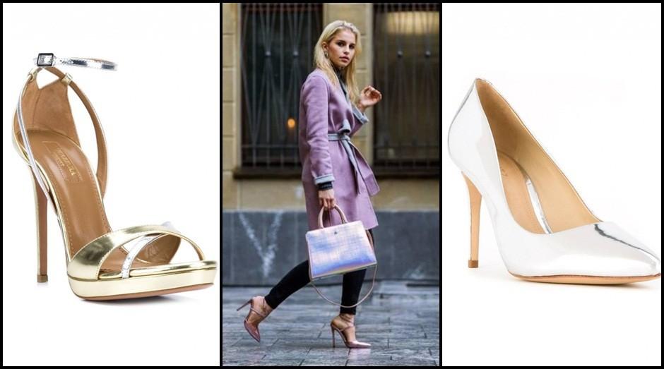 Sapatos dourados viraram tendência  (Foto: Divulgação)