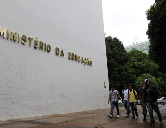 Fachada do Ministério da Educação (Foto: Agência Brasil)