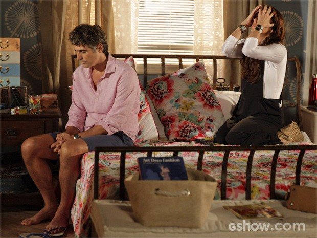 Cadu e Clara têm briga séria (Foto: Pedro Curi/ TV Globo)